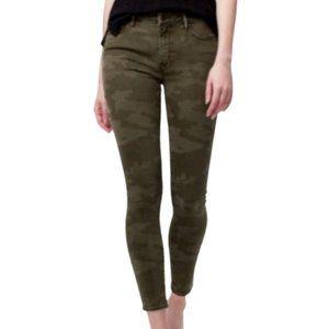 Social Standard Camo High Waist Ankle Skinny Pants